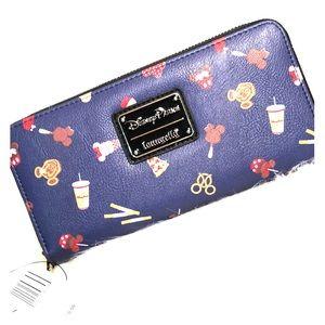 NWT LOUNGEFLY Disney Parks Mickey Minnie wallet